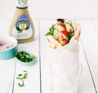 Greek Chicken Gyros with Garlic Aioli