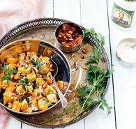 Roasted Garlic Sweet Potato Salad