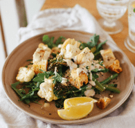 Cauliflower and broccolini salad